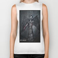 the wire Biker Tanks featuring Barbed Wire by Dandy Jon