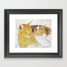 Golden Cats Framed Art Print