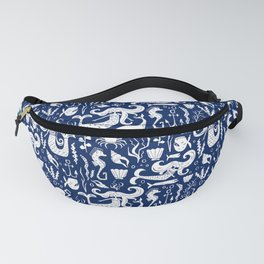 Under The Sea Navy Blue Fanny Pack
