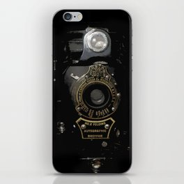 VINTAGE AUTOGRAPHIC BROWNIE FOLDING CAMERA iPhone Skin