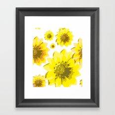 Retro Sunflowers Framed Art Print