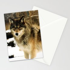Wolves in The Snow Stationery Cards