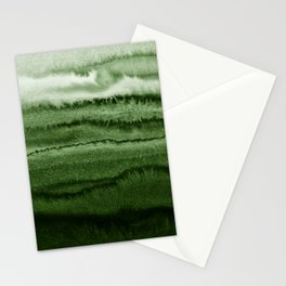 WITHIN THE TIDES FOREST GREEN by Monika Strigel Stationery Cards
