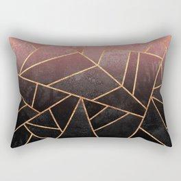 Pink And Black Stone Rectangular Pillow