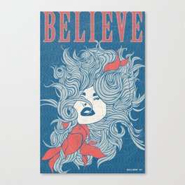 Art Poster - Believe Canvas Print