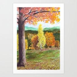 Green Hill Country Art Print