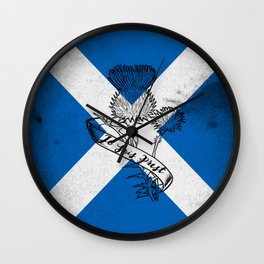 SCOTLAND FLAG JE SUIS PREST Wall Clock