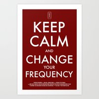 FREQUENCIES KEEP CALM POSTER Art Print