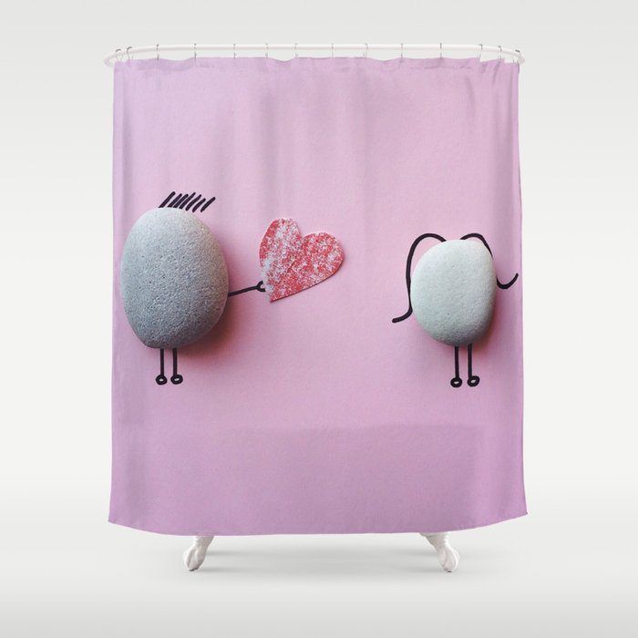 Stones Love Shower Curtain
