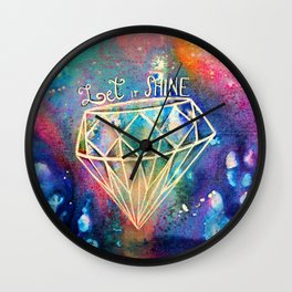Let it Shine Wall Clock