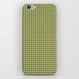 Yellow Grey Houndstooth Pattern iPhone Skin