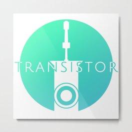 Transistor Logo Metal Print