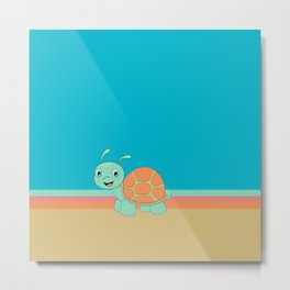 Meet Brysk the turtle Metal Print