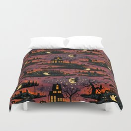 Halloween Night - Bonfire Glow Duvet Cover