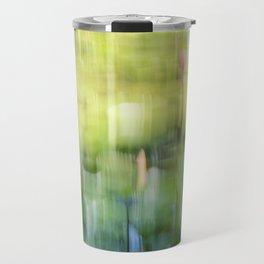 Tropical Impressionism - Lily Pond Travel Mug
