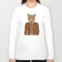 mr fox Long Sleeve T-shirts featuring mr fox by bri.buckley