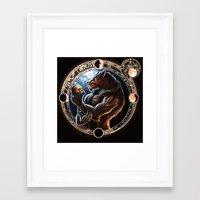 werewolf Framed Art Prints featuring WEREWOLF by TheMagicWarrior