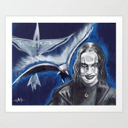Eric Draven, The Crow Art Print
