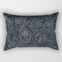 3D ornaments, soft blue Rectangular Pillow
