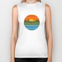 camping Biker Tanks featuring Camping by Becky Gibson