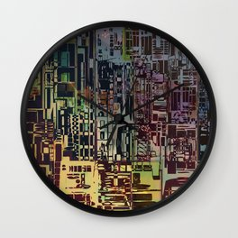 Where Are YOU -4 / Urban Density Wall Clock