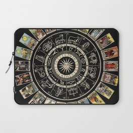 The Major Arcana & The Wheel of the Zodiac Laptop Sleeve