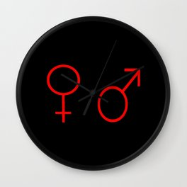 symbol of couple 1 Wall Clock