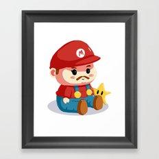Baby fat mario Framed Art Print