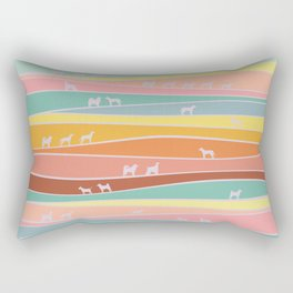 over the hills we go Rectangular Pillow