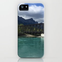 Bow River Engine Bridge - Canmore, Canada  iPhone Case
