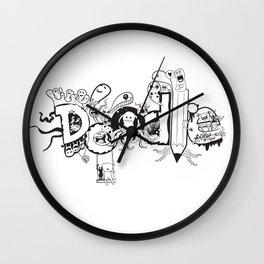 Doodle Friends Wall Clock