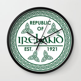 Republic of Ireland - EST. 1921 St.Patrick's Day Awesome Shirt Wall Clock