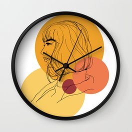 thought bubbles Wall Clock