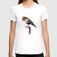 crow T-shirts featuring Crow by Rocío Gómez