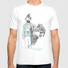 Who am I? SMALL White Mens Fitted Tee