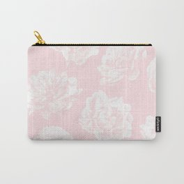 Pink Roses in Flamingo Pink Carry-All Pouch