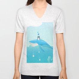 blue sea Unisex V-Neck