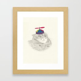 Nelly in the Helicopter Hat Framed Art Print