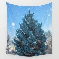 christmas tree Wall Tapestries featuring Christmas tree  by Svetlana Korneliuk