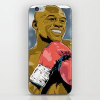 floyd iPhone & iPod Skins featuring Floyd Mayweather by Averagejoeart