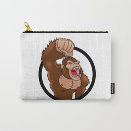 Angry gorilla cartoon Carry-All Pouch