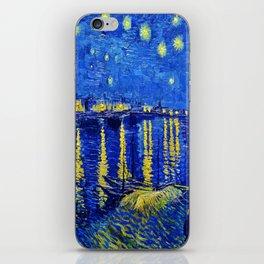 Starry Night Over Rhone iPhone Skin