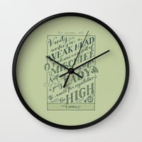 jane austen Wall Clocks featuring Jane Austen Covers: Emma by Leah Doguet
