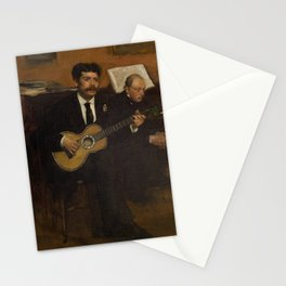 Lorenzo Pagans and Auguste de Gas by Edgar Degas Stationery Cards