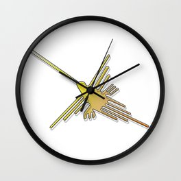 Nazca Lines Hummingbird Wall Clock