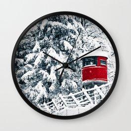 snowfall in the italian alps Wall Clock