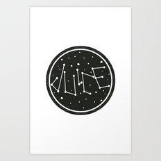 Juice Galaxy Art Print