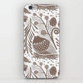 California Quail (Cocoa) iPhone Skin
