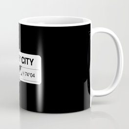 Jersey City New Jersey Map GPS Coordinates Artwork Coffee Mug