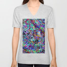 color chaos bywhacky Unisex V-Neck